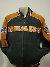 NEW Mens M Medium G-III GIII Apparel CHICAGO BEARS NFL Suede Patch Logo Jacket