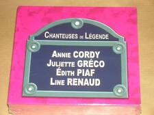 COFFRET 4 CD / CHANTEUSES DE LEGENDE / PIAF, GRECO / A. CORDY / L. RENAUD / NEUF