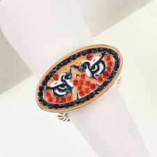 AUBURN UNIVERSITY TIGERS CRYSTAL TIGER EYES LOGO STRETCH RING rhinestone jewelry