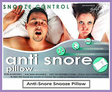 2x Anti-Snore Pillow, Quality Snooze Control Orthopaedic Support Pillow