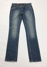 Liu jo jeans donna destroyed strappi usato slim sexy W28 tg 42 vintage blu T3093