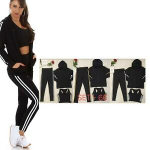 Ladies Gym Wear Fitness Workout Yoga Vest & Leggings set Sports Clothes Women