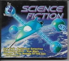 The World of Science Fiction 2 CD set Star Trek Wars BSG Dr Who & more!!