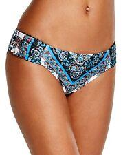 NEW Lucky Brand Bloom Village Tab Sides Hipster Bikini Bottom Multi XS XSmall