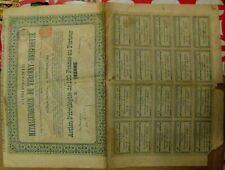 Russian 100 Francs bond Metallurgical Society of Verkhniy-Dneprovsk,1896 Ukraine