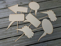 Speech Bubbles on Sticks (SM) - Pack 15 Wedding / Photo Booth Prop Chalkboards