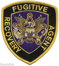 """FUGITIVE RECOVERY AGENT POLICE 4"""" EMBROIDERED PATCH"""
