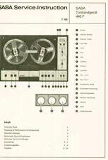 Saba TG 440 f Automatic Tonbandgerät ORIGINAL Schaltplan 10 Seiten ca. 1969