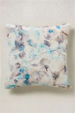 BRAND NEW WITH TAGS NEXT BEAUTIFUL TEAL FLORAL VELVET CUSHION 43 CM X 43 CM