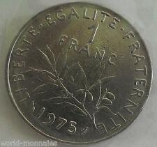 1 franc semeuse 1975 : SUP : pièce de monnaie française