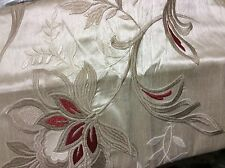 Martha Stewart dreamtime standard pillow Sham Cream Red Tan Embroidery
