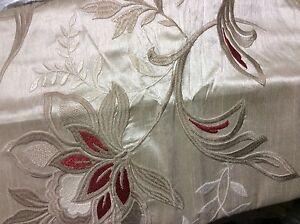 Martha Stewart dreamtime standard  pillow SHAM  Cream Red Tan Embroidery