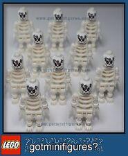 LEGO® SKELETON ZOMBIE minifigures HALLOWEEN ARMY men guys NEW town people lot 10