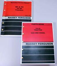 Lot Massey Ferguson To 35 Tractor Parts Book Service Repair Shop Manual Workshop