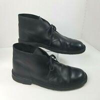 Desert Chukka Ankle Boots CLARKS ORIGINALS Black w/Crepe Sole Mens Size 9.5 M