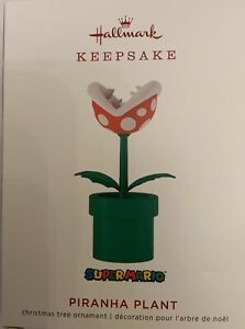 Hallmark 2019 Piranha Plant Super Mario Nintendo Keepsake Ornament New