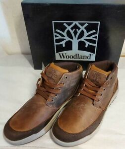 Men's Woodland M47 Leather Casual Smart Lace-Up Brown Hi-Top Boot UK9 and UK11