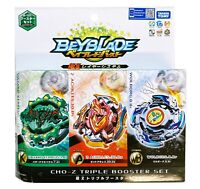 Takara Tomy Beyblade Burst B-121 Cho-Z Triple Booster Set US Seller