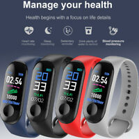 M3 Watch Smart Bracelet Blood Pressure Heart Rate Fitness Tracker Wristband UK h