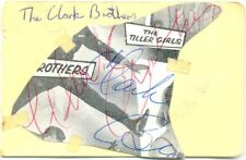 The Clark Brothers + Trio Morlidor signed autograph book page US tap-dancing duo