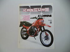 advertising Pubblicità 1984 MOTO MORINI KANGURO 350