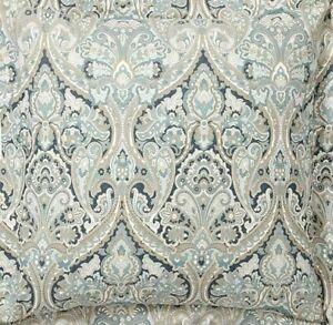 Pottery Barn Mackenna Paisley Organic Percale Euro Pillow Sham ~ Blue