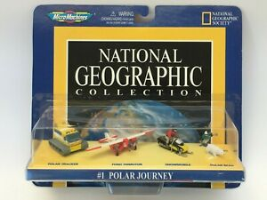 MICRO MACHINES 1998 NATIONAL GEOGRAPHIC #1 POLAR SNOW CAT AIRCRAFT SNOWMOBILE