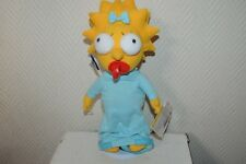 PELUCHE COLLECTION MAGGIE THE SIMPSON + SOCLE NEUF POUPEE PLUSH  APPLAUSE 35 CM