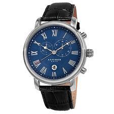 Men's Akribos XXIV AK841SSBU Chronograph Small Seconds Date Quartz Strap Watch