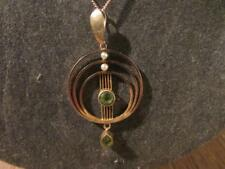 Beautiful Edwardian Rare Quality 9ct Gold, Amethyst & Pearl Pendant & Chain