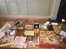 Vintage Casa De Muñecas Mueble Cocina Mesa Sillas etc mezcla de trabajo Lote 12th Escala