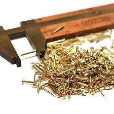 """200pcs #19 x 3/8"""" Solid Brass Escutcheon Pins. Decorative nails. 1x10mm, EU made"""