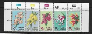 1994 SOUTH AFRICA - FLOWERS - SE-TENANT SET WITH INSCRIPTIONS - MNH.