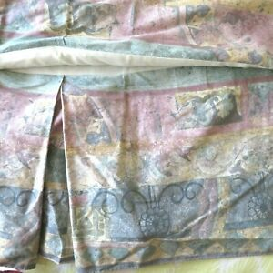 Croscill Benetello King Size Bedskirt Abstract Pastel Vintage Discontinued