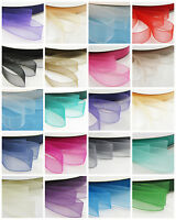 6mm - 38mm WOVEN EDGED ORGANZA RIBBON *21 COLOURS 8 SIZES* WEDDING INVITE CRAFTS