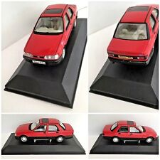Ford Sierra Sapphire GLS Radiant Red Vanguards LLEDO Model Car Case & Plinth