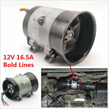 12V Car Electric Turbine Power Turbo Charger Tan Boost Air Intake Fan Bold Lines