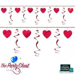 9FT HEART SWIRL GARLAND Valentines Day Romantic Wedding Hanging Decoration 21690