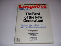 ESQUIRE Magazine, December, 1984, BEST OF THE NEW GENERATION, COLLECTOR'S ISSUE!