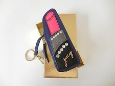 Juicy Couture Hollywood Hills Leather Zip Lipstick Coin Purse