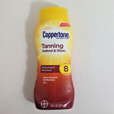 Coppertone Tanning Defend & Glow Sunscreen Lotion SPF 8, 8 oz Bottle