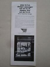 9/1969 PUB COMPAGNIE AERIENNE UTA FRET AIRLINE AFRIQUE ORIGINAL FRENCH AD