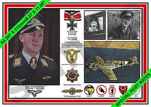 240 aviation art Luftwaffe pilot Werner Schroer JG 27 Knights Cross photo print