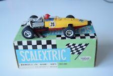Scalextric C36 Honda C-36 ranura de coche en amarillo y rojo 1968 Original Con Caja