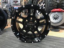 """17"""" Tuff T-19 17x9 6X139.7 (6X5.5"""") +10mm Gloss Black Wheel Rim T19 Wheel 6 lug"""