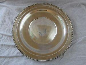 """Vintage Watson Co. L117 Sterling Silver 10.5"""" Plate, NO MONO"""