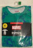 .Bonds Marvel Zippy Wondersuit Hulk Green Size 000 (0-3 Months)  NEW WITH TAG