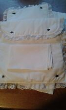 Bedding Set for Silver Cross coach built  Dolls Pram Oberon/Chatsworth White