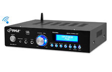 New PDA5BU 200W Bluetooth Stereo Mini Amplifier w/ AM-FM USB Mic Aux In Blue LCD