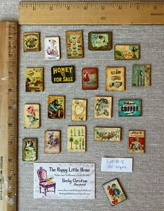 HUGE LOT #8 Dollhouse Miniature ONLY $1.00 EACH decor VINTAGE ad SIGNS 1:12